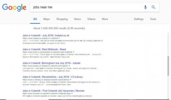 Google Jobs - Results